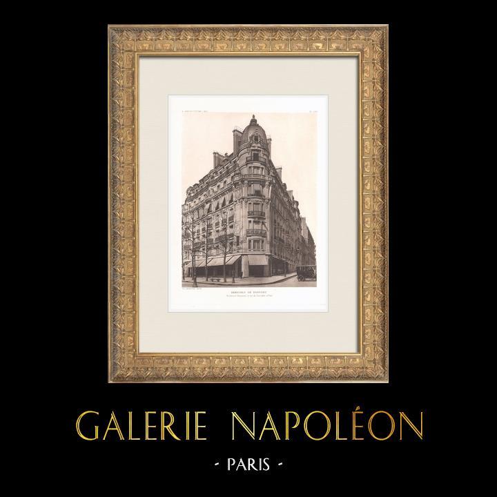 Antique Prints & Drawings | Building in Paris (Ch. Lefebvre) | Heliogravure | 1911