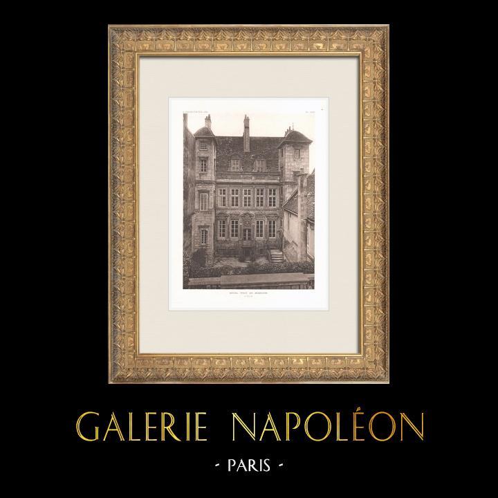 Antique Prints & Drawings | Hôtel Fyot-de-Mimeure - Dijon - Côte-d'Or (France) | Heliogravure | 1911