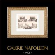 Casa di campagna vicino a Lisieux - Calvados (Charles Rabussier) | Heliogravure originale secondo Rabussier. 1911