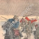 DETAILS 01   Khoungouzes attack a sledge carrying russian wounded - Manchuria - 1905