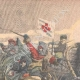 DETAILS 02   Khoungouzes attack a sledge carrying russian wounded - Manchuria - 1905