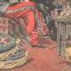 DÉTAILS 05   Le Sultan du Maroc reçoit G. Saint-René Taillandier à Fès - Maroc - 1905