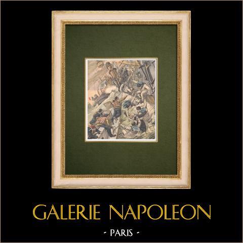 Algiers-toulon Race - Redding van Camille Door de Zeilers van de Kléber - Middellandse zee - 1905 |