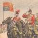 DÉTAILS 01   Édouard VII d'Angleterre passe en revue un régiment de Highlanders - Seaforth - Ecosse - 1905