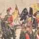 DÉTAILS 02   Édouard VII d'Angleterre passe en revue un régiment de Highlanders - Seaforth - Ecosse - 1905