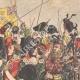 DÉTAILS 05   Édouard VII d'Angleterre passe en revue un régiment de Highlanders - Seaforth - Ecosse - 1905