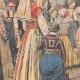 DÉTAILS 02 | Le roi Haakon VII et son épouse reçoivent des paysans norvégiens - Christiana - Norvège - 1905