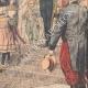 DÉTAILS 04 | Le roi Haakon VII et son épouse reçoivent des paysans norvégiens - Christiana - Norvège - 1905