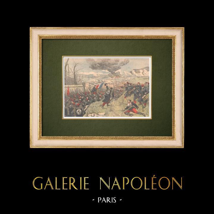 Antique Prints & Drawings | Salut à la Victoire ! - Étienne Beaumetz - XIXth Century | Wood engraving | 1905