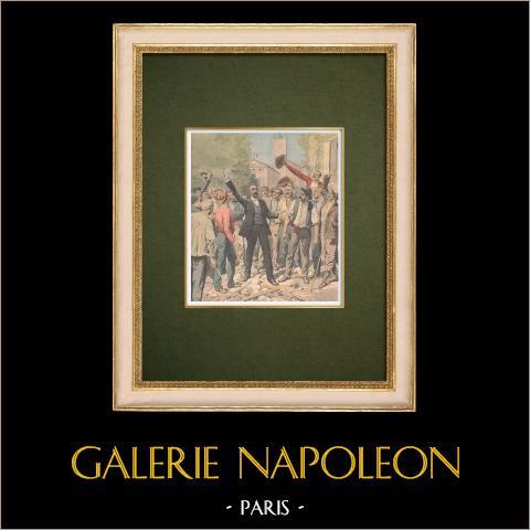 Opstand van de Wijnboeren in de Languedoc - Marcelin Albert - Argeliers - Frankrijk - 1907 |