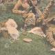 DÉTAILS 05   Des promeneurs surpris par des tirs d'obus - Dun-sur-Auron - 1907