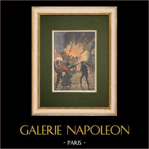 Brand in Zuid-Frankrijk - Zomerdroogte - 1907 |
