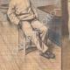 DÉTAILS 05 | Scène de la vie quotidienne à la prison de Fresnes - Paris - 1907