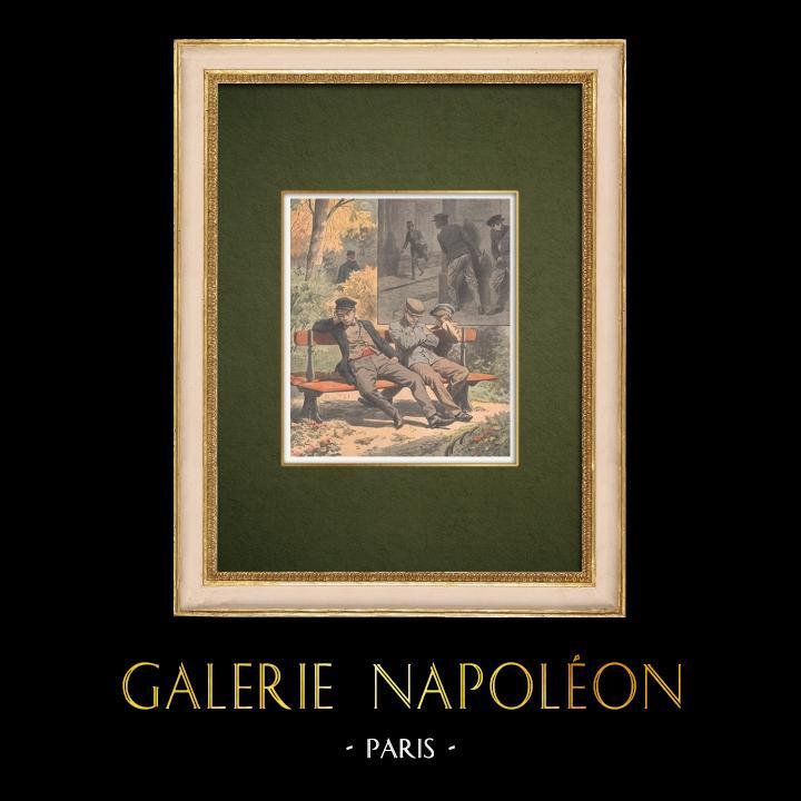 Gravures Anciennes & Dessins | Augmentation de la délinquance juvénile - France - 1907 | Gravure sur bois | 1907