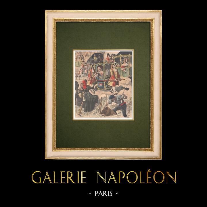 Stampe Antiche & Disegni | Inondazioni nel Francia meridionale - Festa a beneficio delle vittime - Parigi - 1907 | Incisione xilografica | 1907