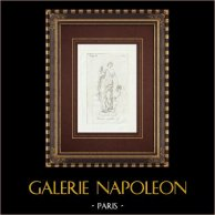 Sculpture of Venus - Galleria Borghese - Rome | Original copper engraving on laid paper. Anonymous. 1796