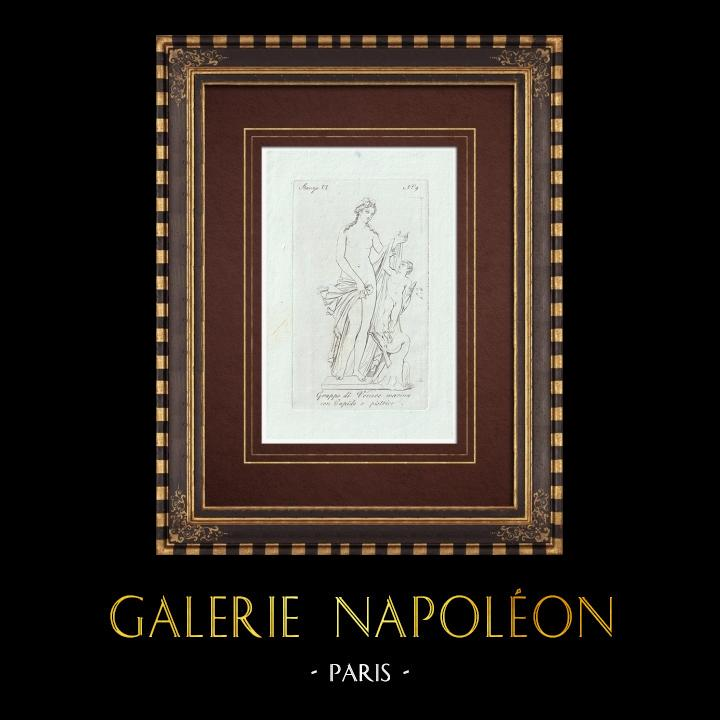 Stampe Antiche & Disegni | Venere, Cupido e un pistrice - Galleria Borghese - Roma | Incisione su rame | 1796