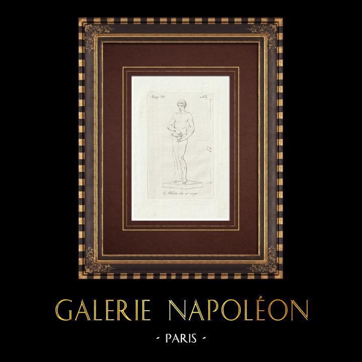 Stampe Antiche & Disegni | Unzione dell'atleta - Nudo maschio - Galleria Borghese - Roma | Incisione su rame | 1796