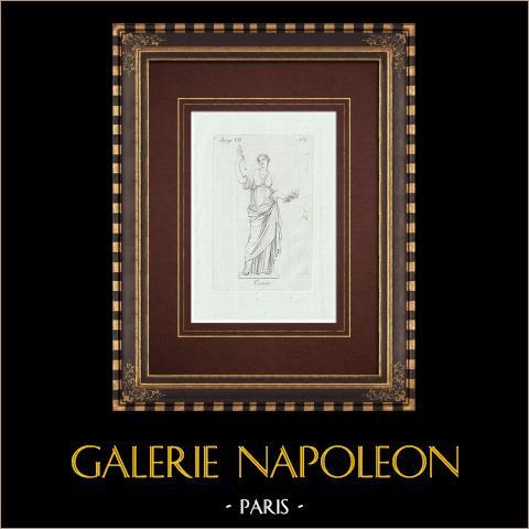 Cérès - Galerie Borghèse - Rome | Gravure sur cuivre originale sur papier vergé. Anonyme. 1796