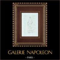 Boxeur et cestes - Galerie Borghèse - Rome | Gravure sur cuivre originale sur papier vergé. Anonyme. 1796