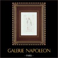 Cupidon couronné de lierre - Galerie Borghèse - Rome | Gravure sur cuivre originale sur papier vergé. Anonyme. 1796