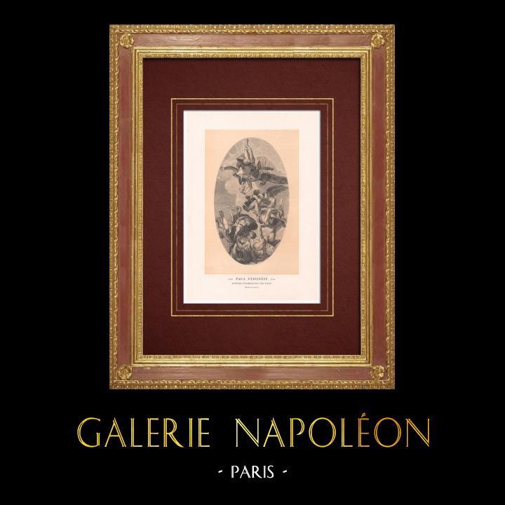 Stampe Antiche & Disegni | Giove - Fulmine - Vizii - Mitologia (Véronèse) | Incisione xilografica | 1870