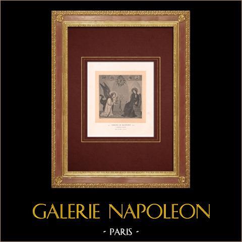 De Aankondiging - de Aankondiging van de Aartsengel Gabriël aan de Gezegende Maagd Maria (Simone Martini) |