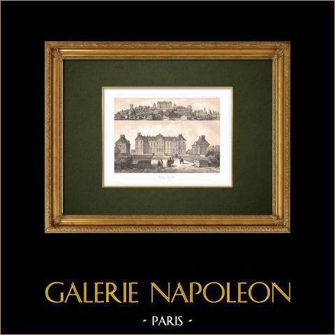 Gezicht op Brienne - Kasteel - Napoleon i - Aube (Frankrijk) |