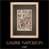 Joueur d'Orgue de Barbarie dans les rues de Paris - 1908