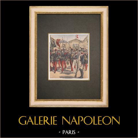Militaire School van Saint-cyr - Napoleon i - Militair Uniform - 1908 |