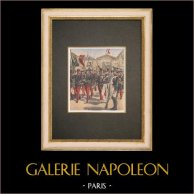 Escuela Militar de Saint-Cyr - Napoleón I - Traje Militar - 1908