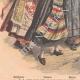DÉTAILS 05 | Femmes française, danoise, suédoise, norvégienne et russe - Costumes régionaux - 1908