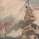 DETAILS 01 | Naval military exercise - Submarine against battleship - 1908