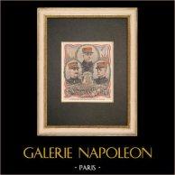 Grandes manoeuvres du Centre 1908 - Portraits - Généraux de Lacroix, Tremeau, Millet - France