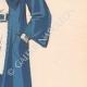 DETAILS 05 | Fashion Plate - Spring 1935 - Alpaga Marine et Piqué de Soie Blanc