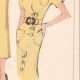 DETAILS 06   Fashion Plate - Spring 1935 - Crêpe de laine uni et fantaisie