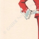 DÉTAILS 02 | Gravure de Mode - Printemps 1935 - Shantung tomate et piqué blanc