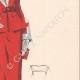 DÉTAILS 05 | Gravure de Mode - Printemps 1935 - Shantung tomate et piqué blanc