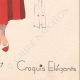 DÉTAILS 08 | Gravure de Mode - Printemps 1935 - Shantung tomate et piqué blanc