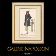 Gravura de Moda - Primavera 1935 - Manteau Trois Quarts en poult de soie noir