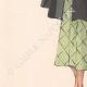 DETTAGLI 03 | Stampa di Moda - Primavera 1935 - Manteau Trois Quarts en poult de soie noir