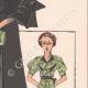 DETTAGLI 05 | Stampa di Moda - Primavera 1935 - Manteau Trois Quarts en poult de soie noir