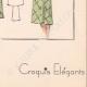 DETTAGLI 08 | Stampa di Moda - Primavera 1935 - Manteau Trois Quarts en poult de soie noir
