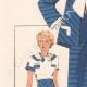 DETTAGLI 02   Stampa di Moda - Primavera 1935 - Alpaga façonné marine et blanc