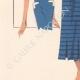 DETTAGLI 03   Stampa di Moda - Primavera 1935 - Alpaga façonné marine et blanc
