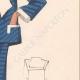 DETTAGLI 05   Stampa di Moda - Primavera 1935 - Alpaga façonné marine et blanc
