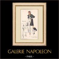 Gravura de Moda - Primavera 1935 - Gros marocain blanc et noir