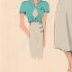 DETTAGLI 03 | Stampa di Moda - Primavera 1935 - Flanelle grise et toile bleue claire