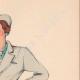 DETTAGLI 04 | Stampa di Moda - Primavera 1935 - Flanelle grise et toile bleue claire