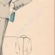 DETTAGLI 05 | Stampa di Moda - Primavera 1935 - Flanelle grise et toile bleue claire